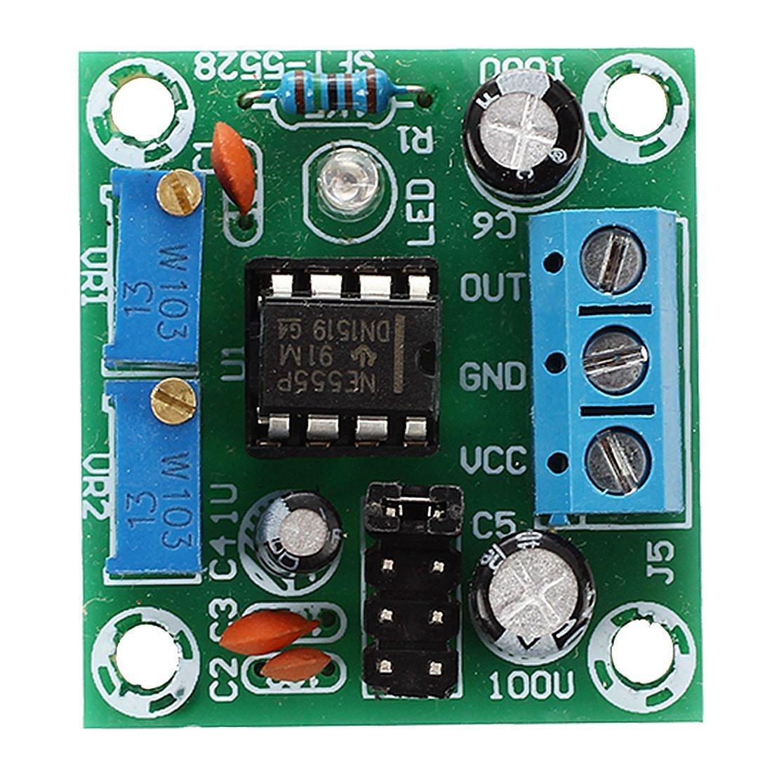 Sodialr Square Wave Signal Generator Ne555 Pulse 555timermonostableoneshotcircuit Module W Led Indicator 5 15v Electronics