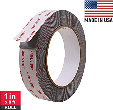 2 X ROLL HEAVY DUTY STRONG DOUBLE SIDED STICKY TAPE FOAM ADHESIVE CRAFT NEW