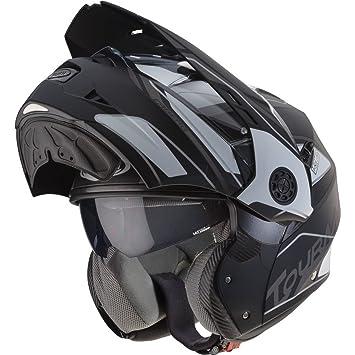 Caberg Tourmax Marathon Flip Front Motorcycle Helmet S Matt Black White Anthracite