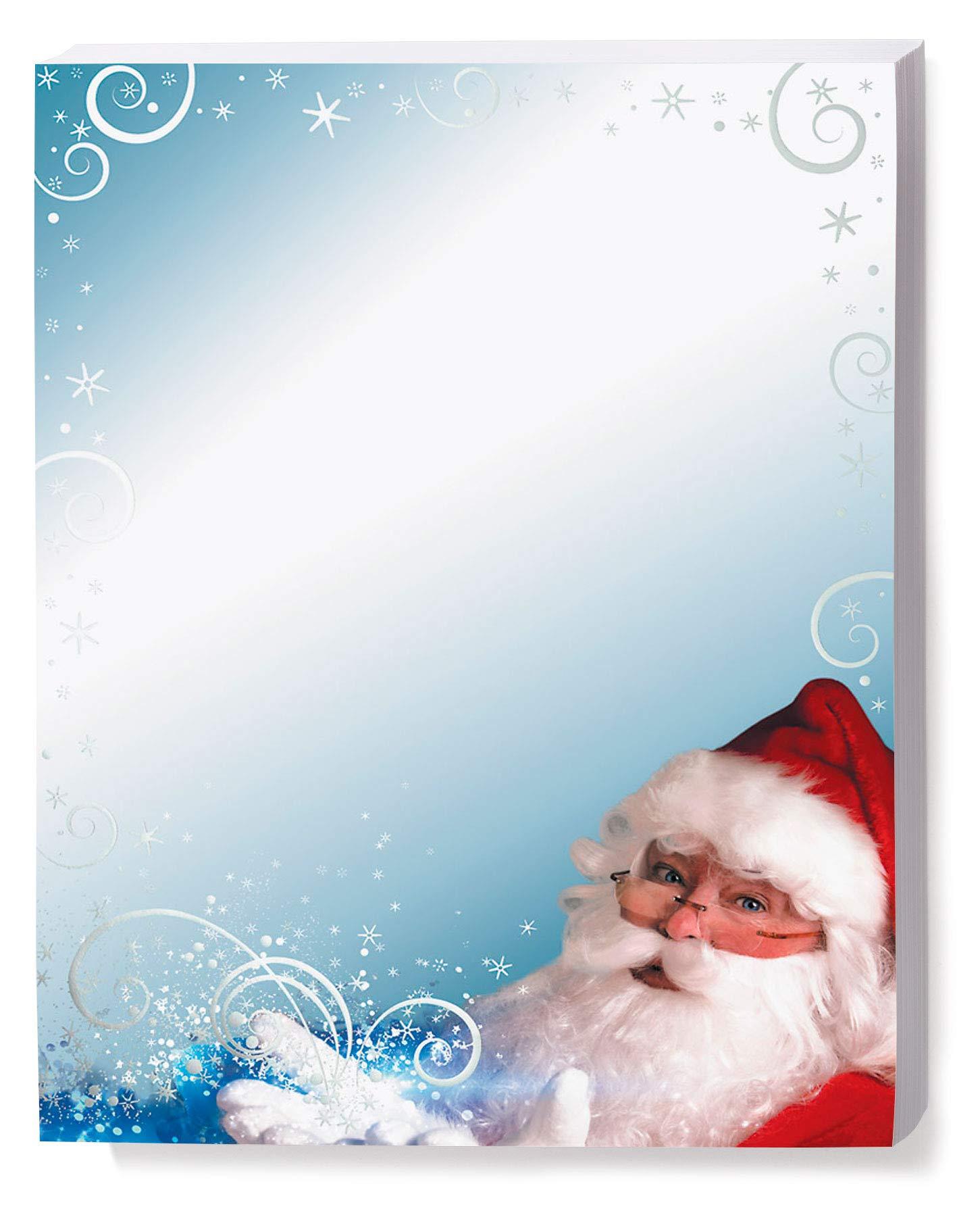 Christmas Holiday Stationery, Santa's Magic, 8 1/2 x 11 Printable Paper, 100-pack
