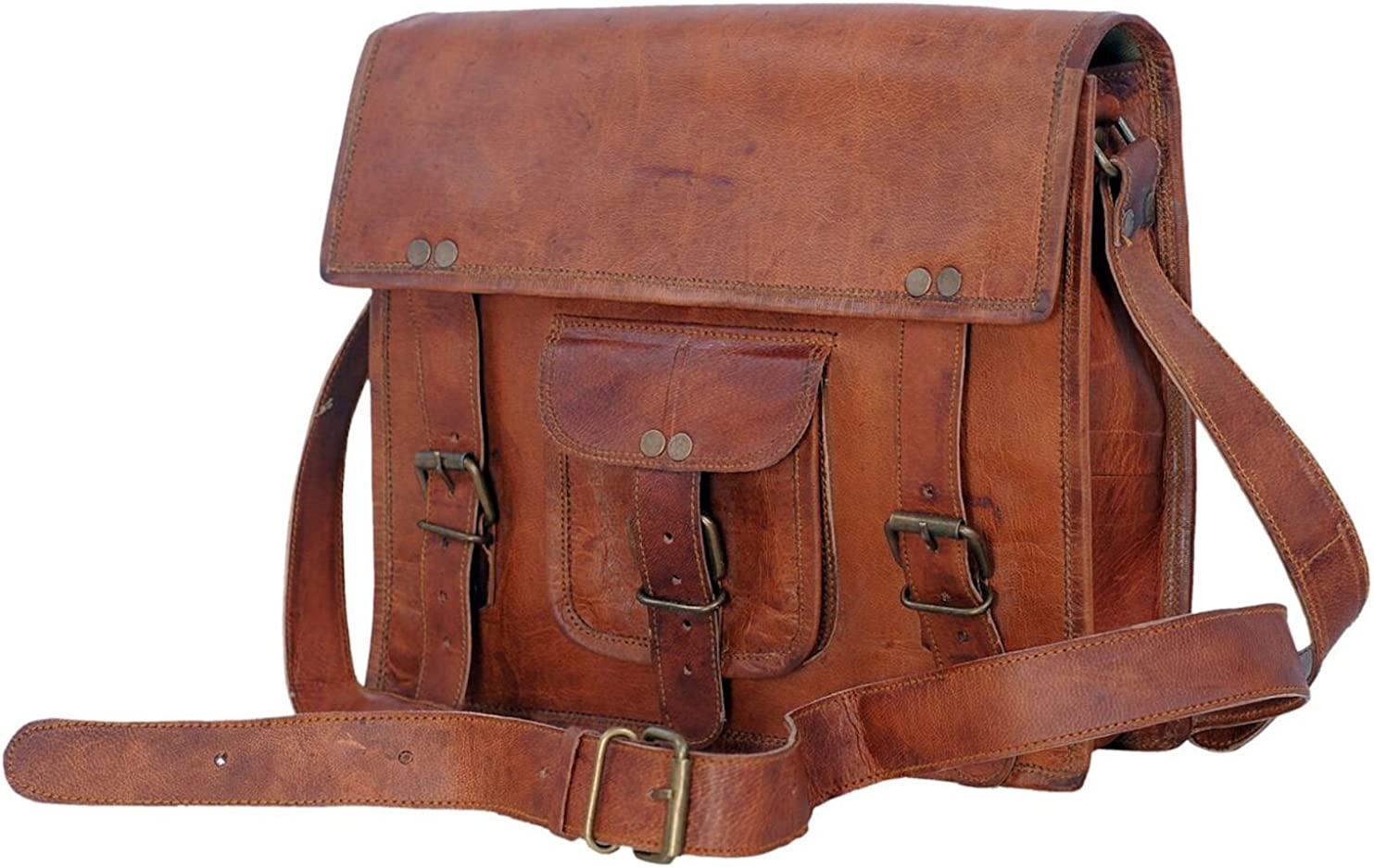 Komal's Passion Leather satchel Ipad Messenger Tablet Bag for men and women