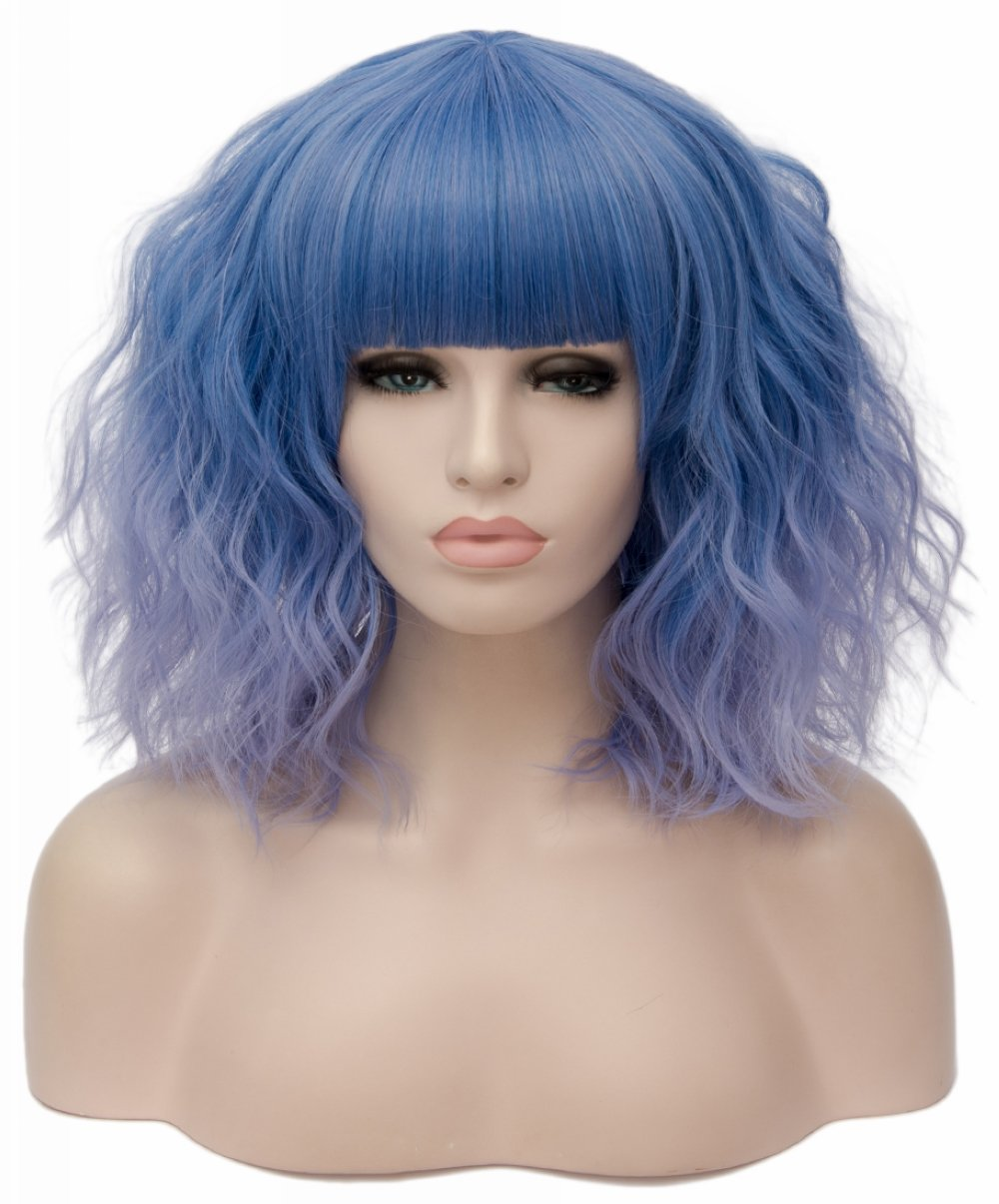 Amazon Com Topwigy Short Purple Wig 14 Inches Synthetic