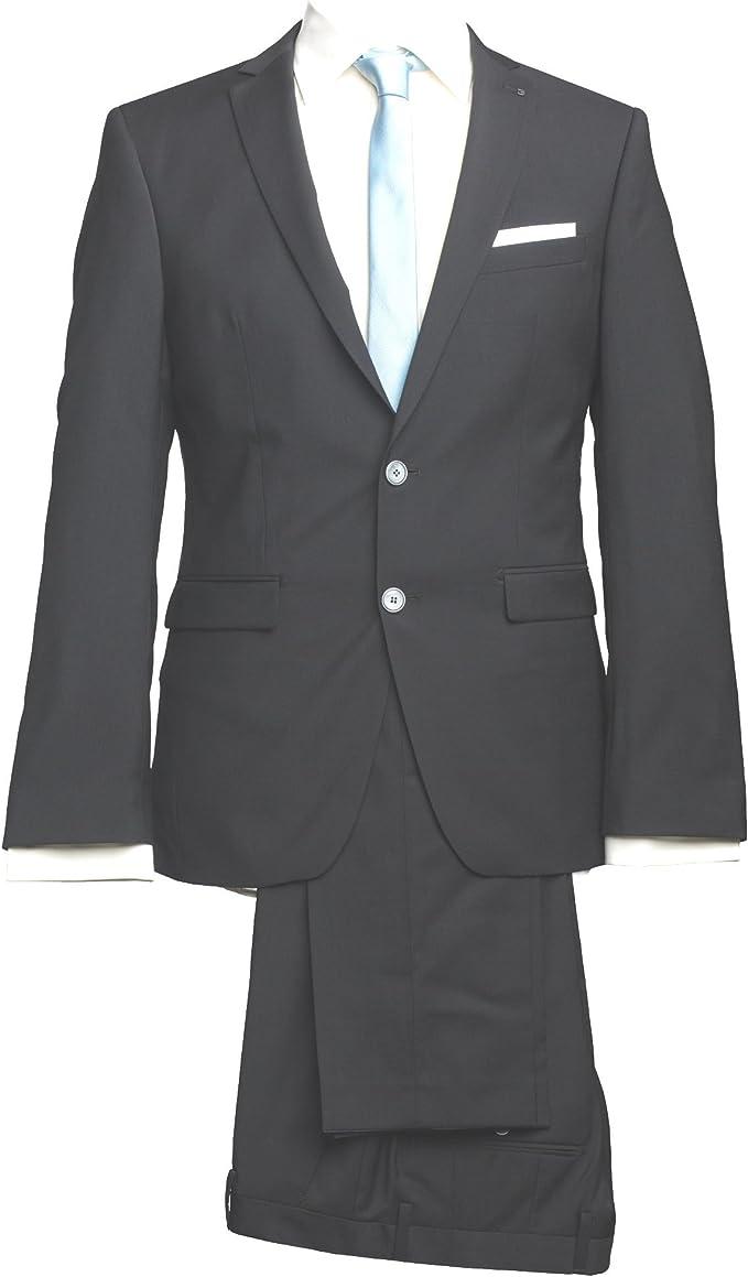 Barutti Hose Santo Schwarz Uni Slim Fit Extra Schmal 100/% Schurwolle