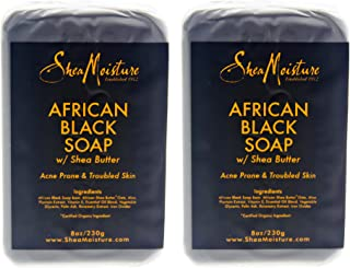 product image for SHEA MOISTURE African Black Soap Bar Acne Prone & Troubled Skin Pack Of 2, 8 Oz