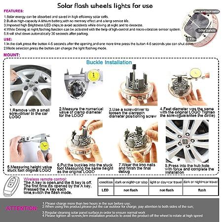 Amazon.com: Coche Auto impermeable Solar lámpara de luz de ...