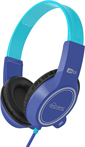 MEE audio KidJamz 3 Child Safe Headphones for Kids with Volume-Limiting Technology Blue