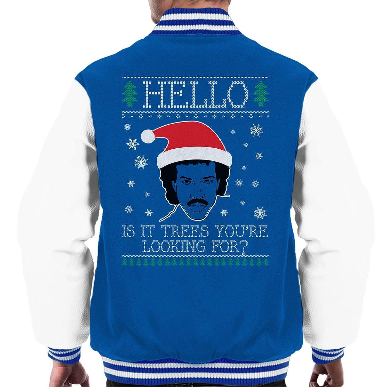 Hello Lionel Richie Christmas Knit Men's Varsity Jacket