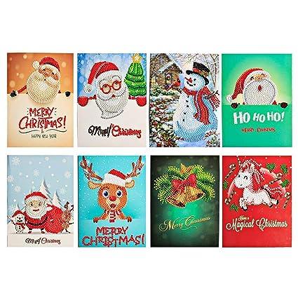 Amazon Com Yobeyi A 5d Diy Christmas Card Diamond Painting Gift