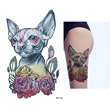 99e6f4f30 1x DIY Body Art Temporary Tattoo Colorful Animals Watercolor Painting  Drawing Horse Butterfly Decal Waterproof Tattoos Sticker,KM142:  Amazon.co.uk: Beauty