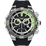 Mulco Buzo Marine Quartz Swiss Chronograph Movement Men's Watch | Premium Analog Display | Silicone Band | Water Resistant Stainless Steel Watch | MB7-3039
