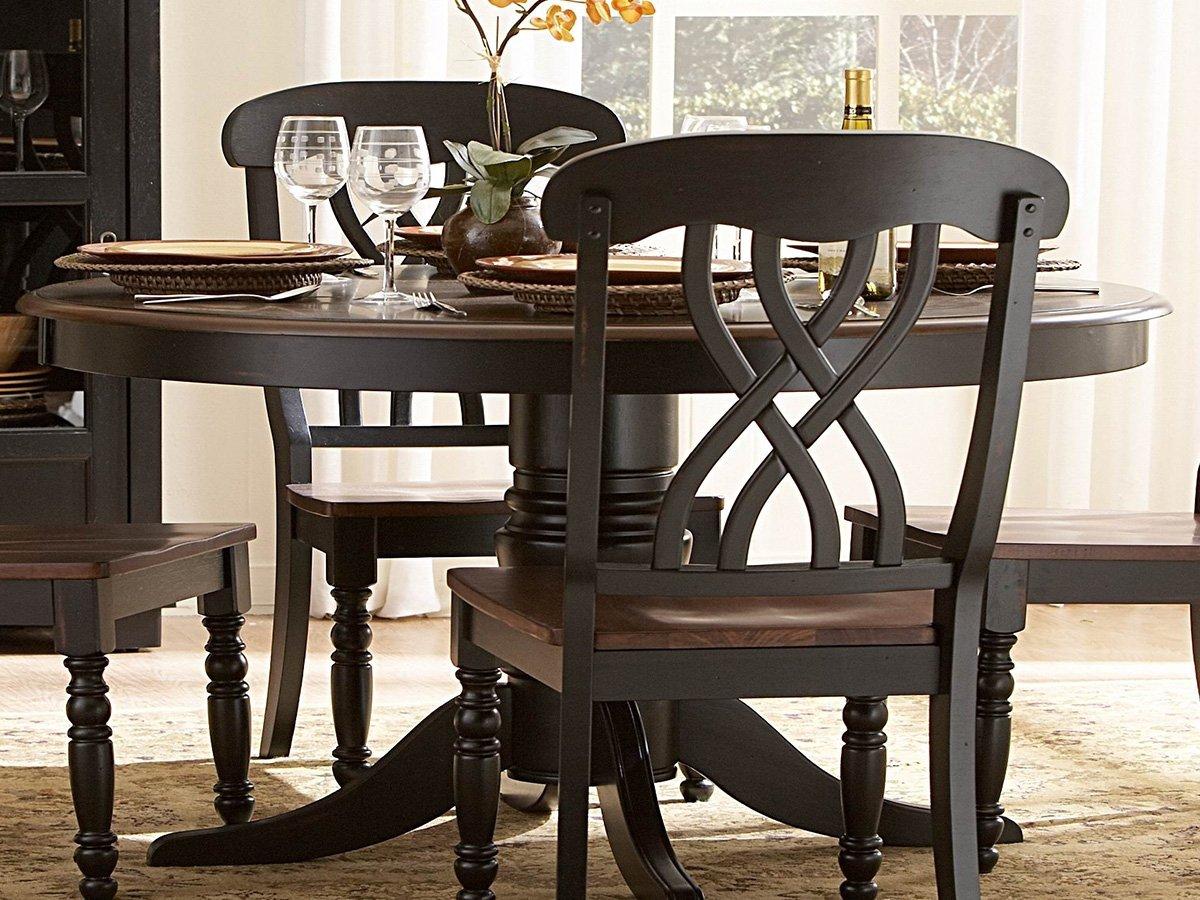 "Amazon 48"" Ohana Round Dining Table Black By Homelegance"