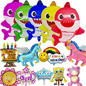 BESLIME Shark Party Supplies Birthday Decorations Shark Party Supplies Decorations Balloons