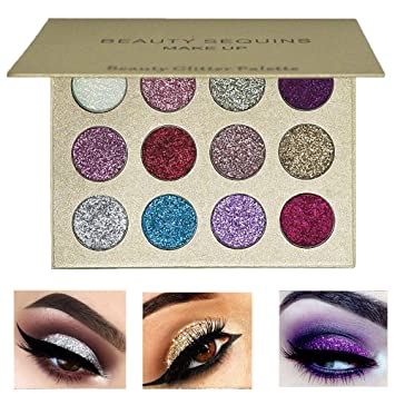 2 In 1 Eye Makeup Kit Waterproof Long Lasting Shimmer Shine Eye Shadow Sticker Eyes Glitter Eyeshadow Cosmetics Beauty Makeup 100% Original Eye Shadow