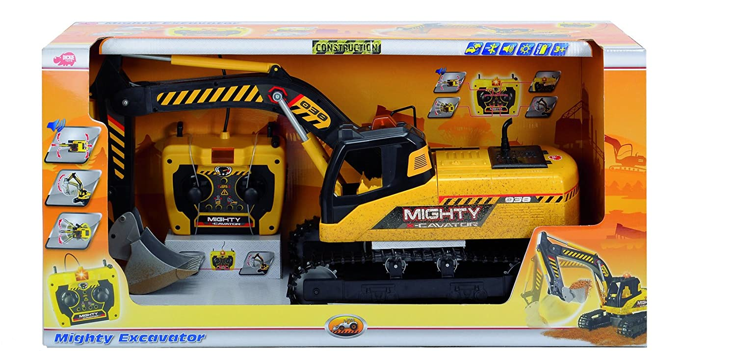 Dickie Toys 1:14 Remote Control Mighty Excavator Vehicle Dickie 20 372 9000 AMU Imports