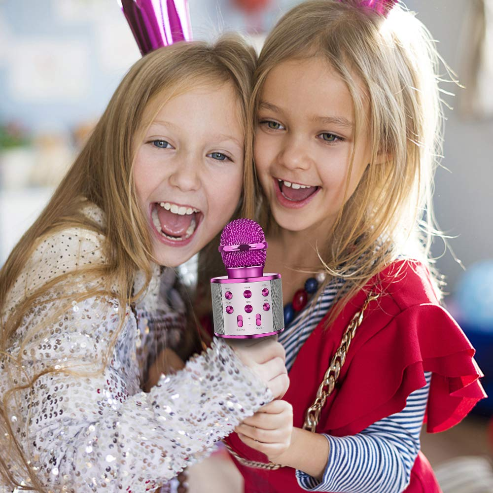 Tesoky Best Toys for 5-12 Year Old Girl, Handhold Wireless Bluetooth Potable Karaoke Microphone Machine Speaker Unique Gift for 5-12 Year Old Girl Boys Teen Party Favors Travel Toys TESOKYG02 by Tesoky (Image #4)