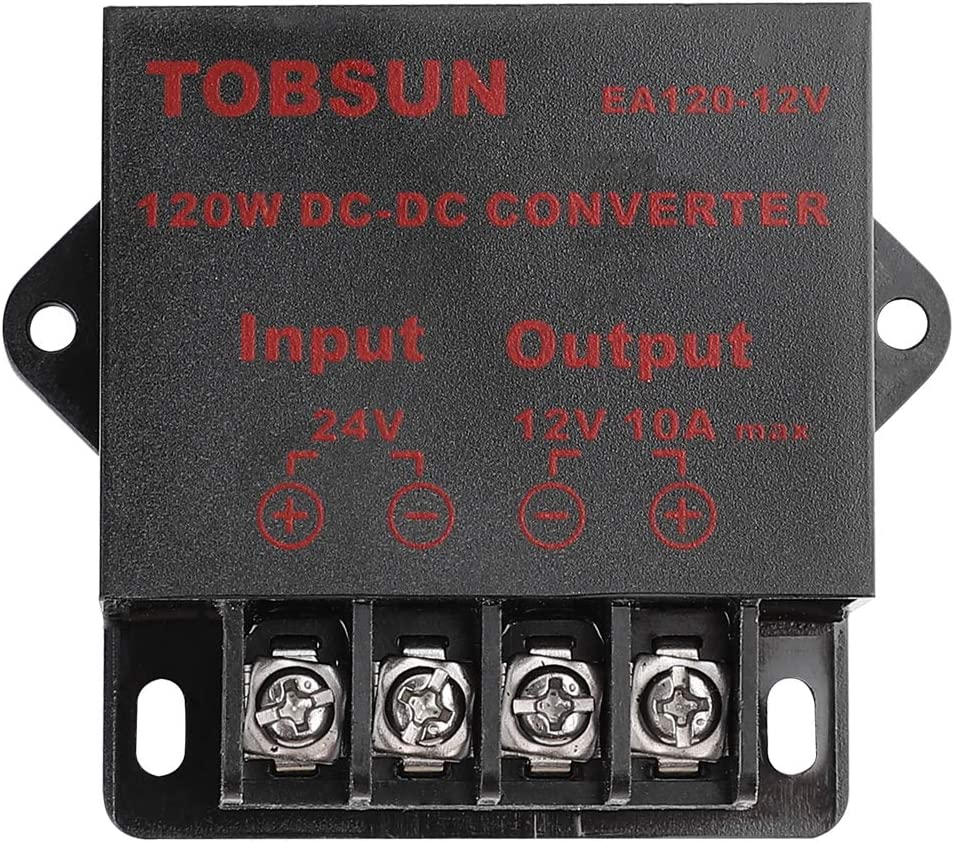 BINZET DC 24V to 12V 10A 120W Converter Step Down Regulator for Car Low Voltage Transformer