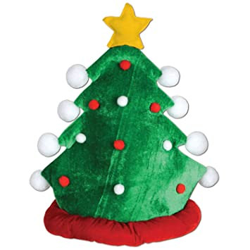 Image Unavailable. Image not available for. Color  Beistle 1-Pack Plush  Christmas Tree Hat 4827caf10797