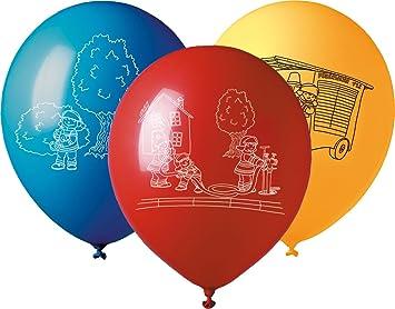 5 grandes Globos * * para Fiesta temática de bomberos y de ...