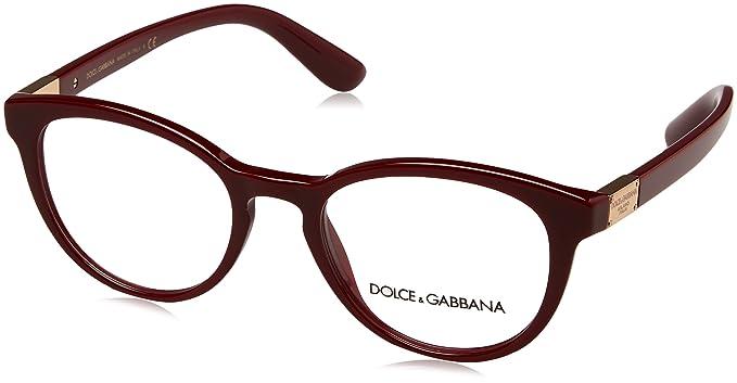 19279b3976e Amazon.com  DOLCE   GABBANA Eyeglasses DG3268 3091 Bordeaux  Clothing