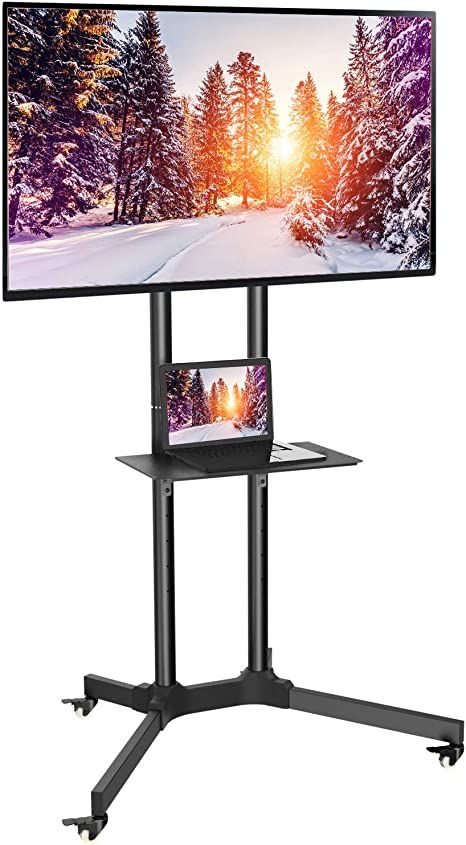 Tv Standfuß Mobiler Tv Ständer Mit 4 Rollen Und Elektronik