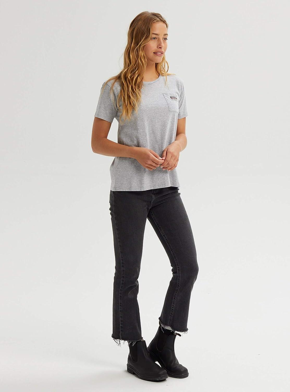 Burton Womens Classic Pocket Short Sleeve Small Gray Heather