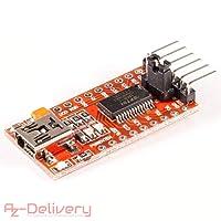 AZDelivery ⭐⭐⭐⭐⭐ FT232RL FTDI USB a Ttl modulo Adattatore convertitore seriale per Arduino con eBook Gratuito!