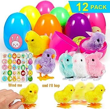 ThinkMax Huevos de Pascua Lleno 12 Conejos y Polluelos enrollados ...