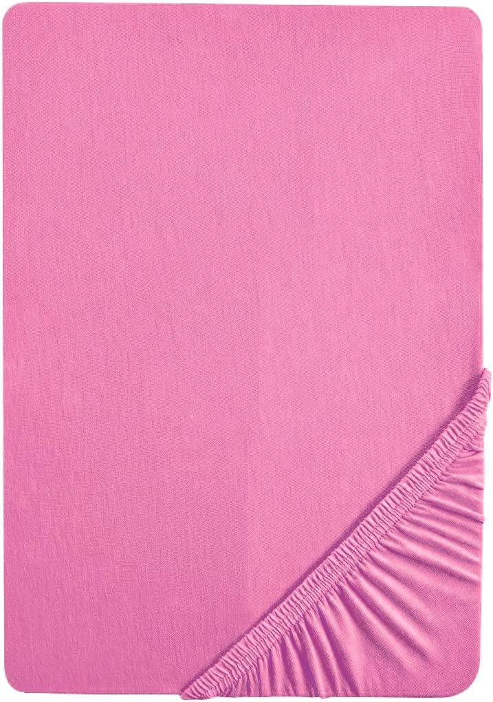 90x190 cm Baumwolle//Elasthan gelb biberna 0077866 Jersey-Elastic Spannbetttuch Matratzenh/öhe max. 25 cm 100x220 cm