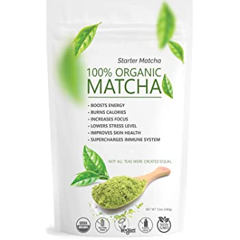 Matchaccino Starter Matcha Pure USDA Organic Green Tea Powder