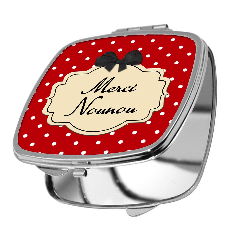 Yonacrea - Miroir de Poche - Merci Nounou - Noir yonacrea_miroir00596