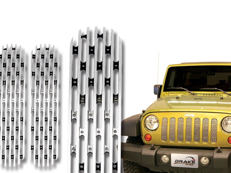 Drake Off Road JP-190008-POLSH Polished Grille Insert for Jeep JK