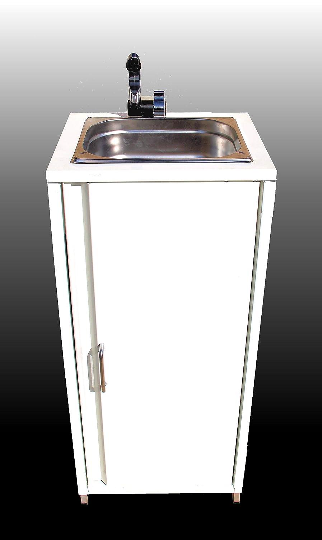 BBT@ / Mobiles Waschbecken im Stahlblech-Schrank Weiß / Sofort ...
