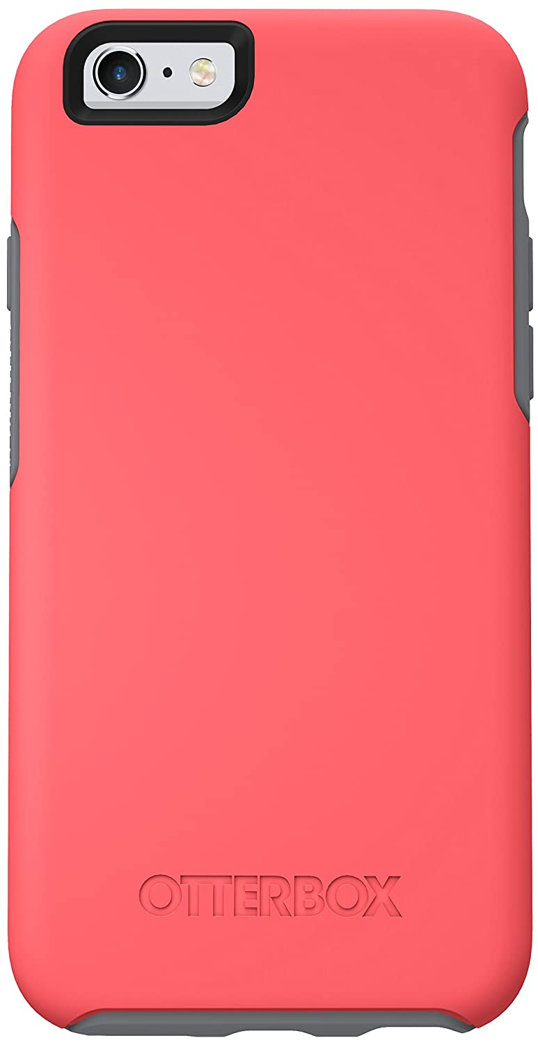 """OtterBox SYMMETRY SERIES Case for iPhone 6/6s (4.7"""" Version) - Frustration Free Packaging - PREVAIL (CORAL/GUNMETAL GREY)"""