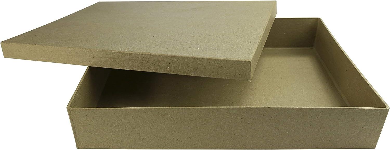 aus Pappmach/é, 13 x 11 x 3,5 cm, zum Verzieren, ideal f/ür Ihre Wohndeko D/écopatch BT036O Box in Herzform flach XS Kartonbraun