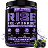 Rise Pre Workout Powder Supplement – Science Backed Pre Workout for Men & Women w/No Jitters -Supports Steady Energy & Lastin