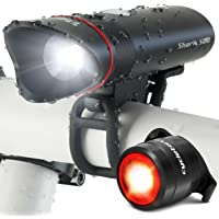 Cycle Torch Shark 500 USB Rechargeable Bike Light Set - FREE LED Taillight INCLUDED – SUPER-BRIGHT 500 Lumens - Fits ALL Bicycles, Hybrid, Road, MTB, Easy Install & Quick Release