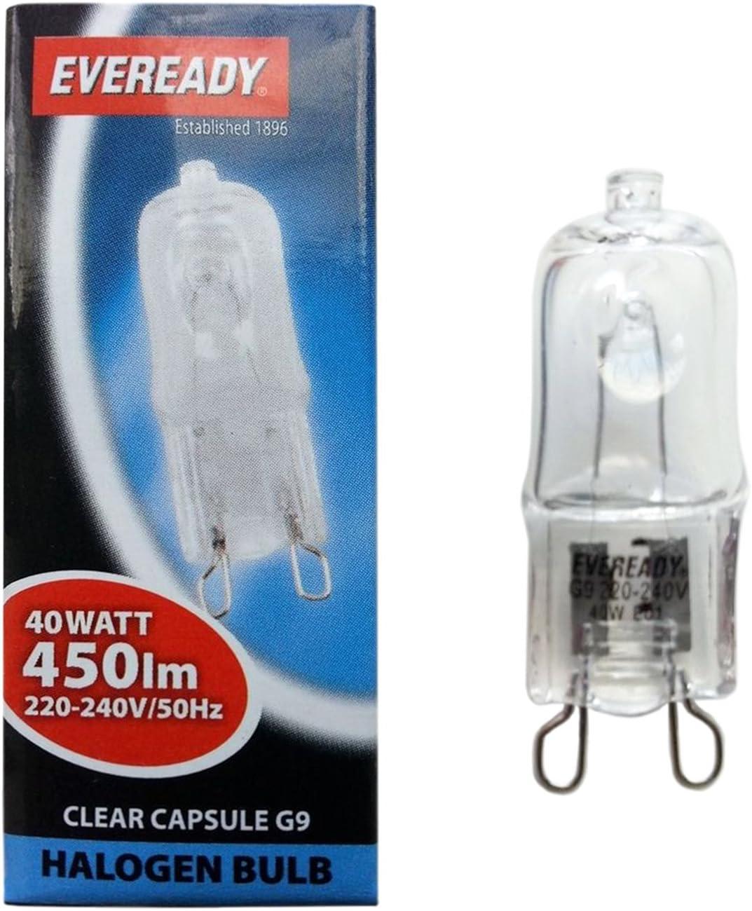 10 Dimmabe G9 25W Halogen Lamps Light bulbs G9 Clear Bulbs