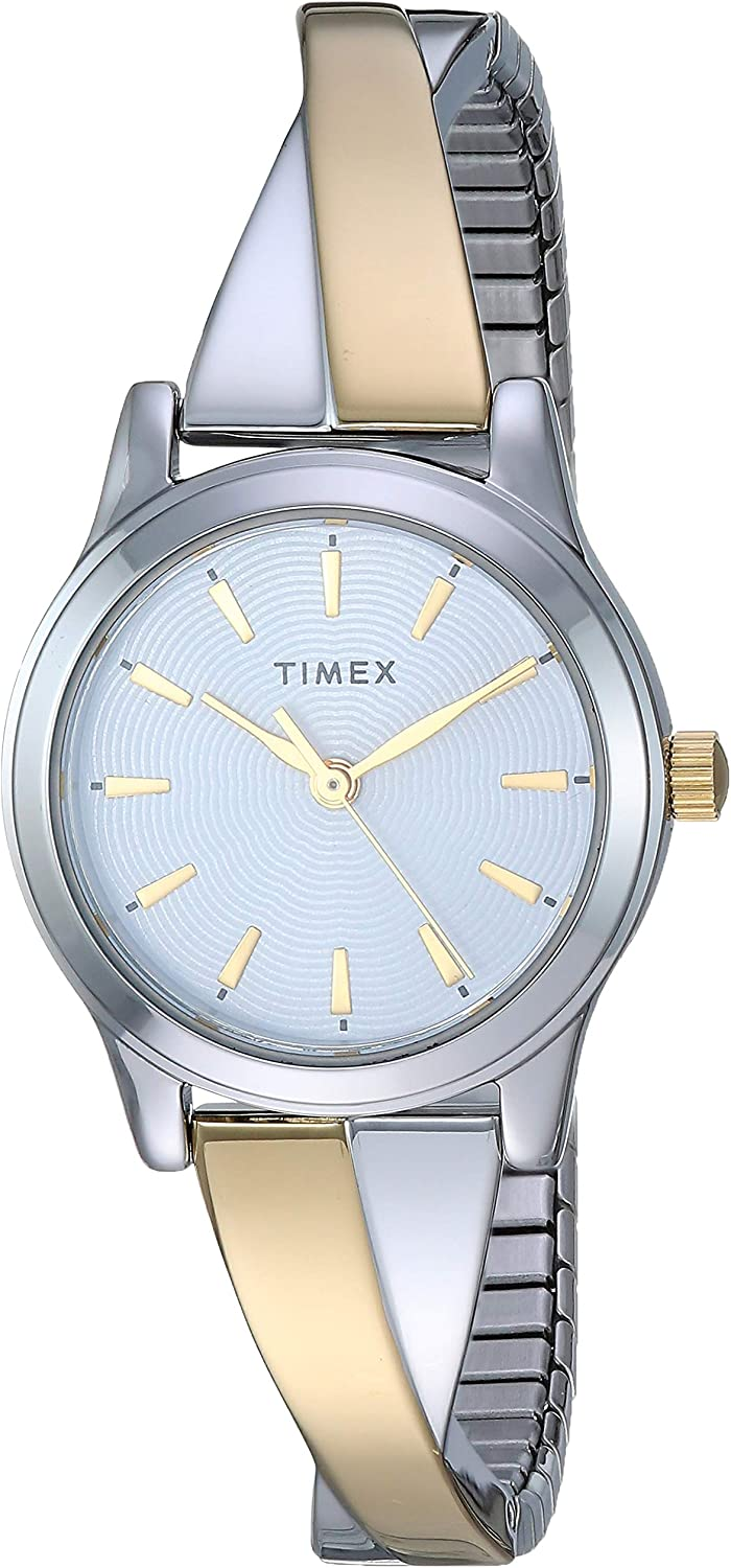 Timex Women's Stretch Bangle Crisscross 25mm Watch