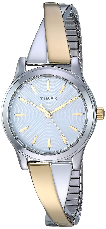 Timex Women s Stretch Bangle Crisscross 25mm Watch