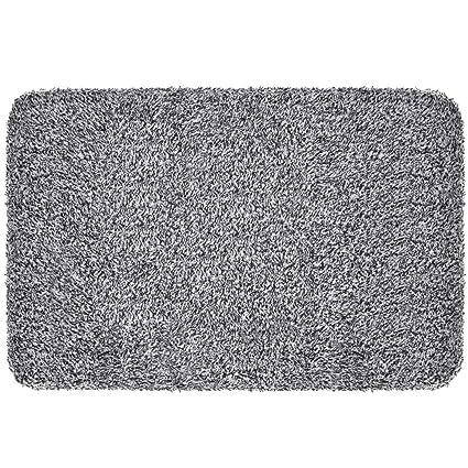 Indoor Doormat Super Absorbs Mud 18u0026quot;x28u0026quot; Latex Backing Non Slip Door  Mat For