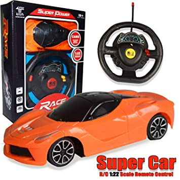Buy Planet Of Toys Remote Control Car For Kids Battery Operated Car For Kids Boys Orange Online At Low Prices In India Amazon In