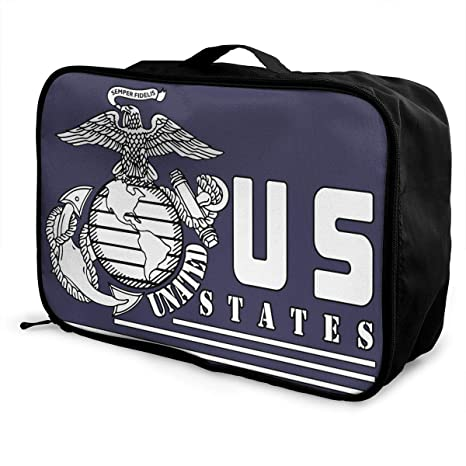 Portable Luggage Duffel Bag United States Marine Corps Logo Travel Bags Carry-on In Trolley