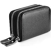 MaxGear RFID Blocking Credit Card Holder Genuine Leather Credit Card Wallets Credit Card Case Coin Purse