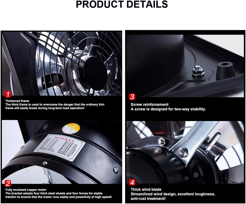 MEILINL Ventilador de Escape 150mm Extractor de Aire Ventilador de Extracci/ón de Aire Metal Body and Blades con Solapa antirretorno 500 m/³//h Ventilaci/ón Eficiente para ba/ño Inodoro Oficina