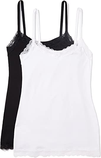 Pack of 2 Brand Iris /& Lilly Womens Soft Lace Camisole