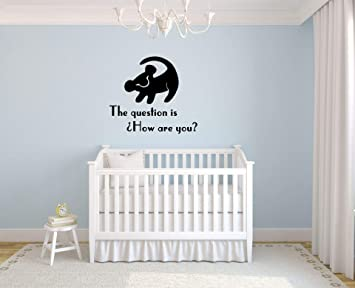 Amazon.com: The Lion King Simba Quotes Wall Decals For Kids ...