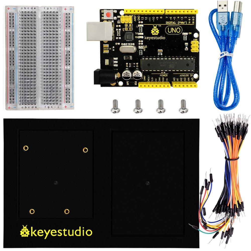 KEYESTUDIO for Arduino UNO R3 Board +400 Hole Breadboard+Arduino Holder+Usb Cable for Arduino Starter Kit