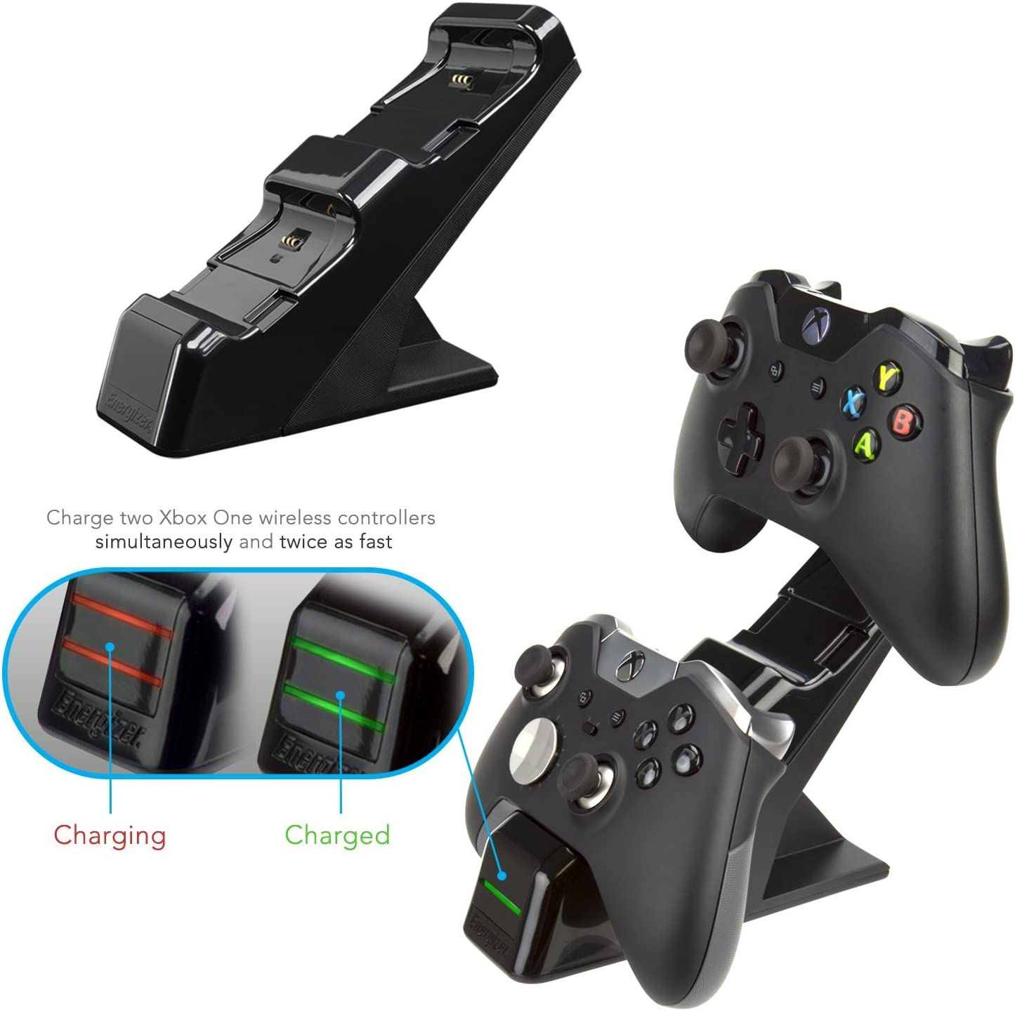 Amazon com: PDP Energizer Xbox One Controller Charger with