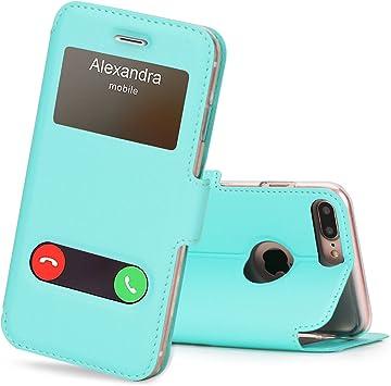 FYY Coque iPhone 6S Coque iPhone 6 Housse Magnetique Smart View avec Fen/être dOuverture pour Apple iPhone 6S//6 Vert