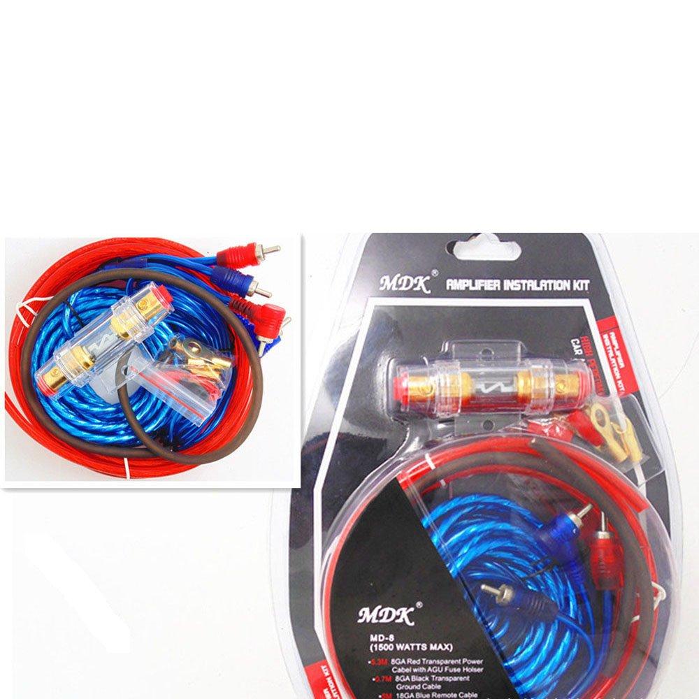 Venta caliente1500w 8ga Car Audio Subwoofer Amplificador Amp Cableado Fusible Holder Cable Kit VIGORFLYRUN PARTS LTD